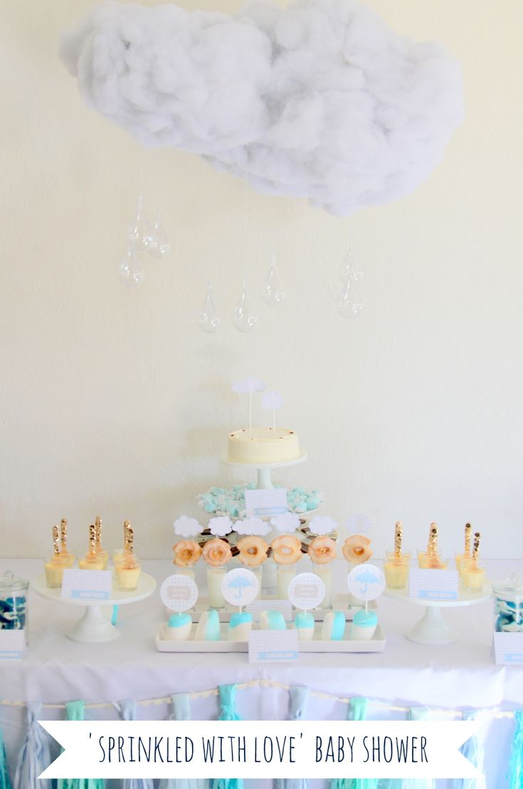 33 best baby showers images on pinterest baby shower for Cloud centerpieces