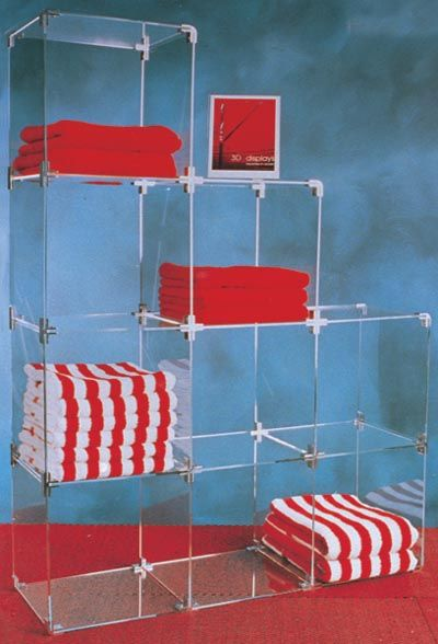 Display Cubes : Acrylic / Perspex 30cm Open Display Cubes