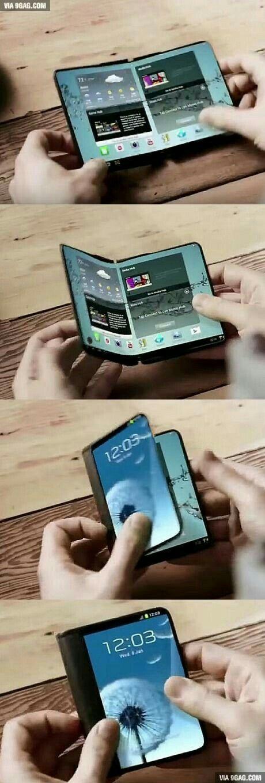 ¿Puede creer que para el 2017 este Samsung's podrá tener la opción de doblarse y tener diferentes tipos de pantallas? ¡Impresionante!