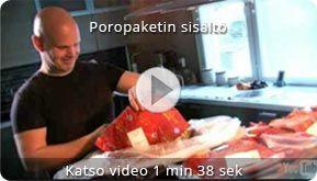 Video: Poropaketin sisältöesimerkki