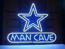 "New Man cave Dallas Cowboys American Football Pub Bar Neon Sign 20""x16"" SP36M"