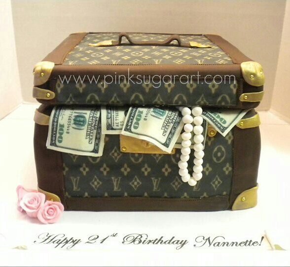 Louis Vuitton Cosmetic Case Cake By Pinksugarart Cakesdecor Com