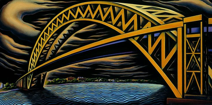 Ann Bascove | BRIDGES & CITYSCAPES | Bayonne Bridge II