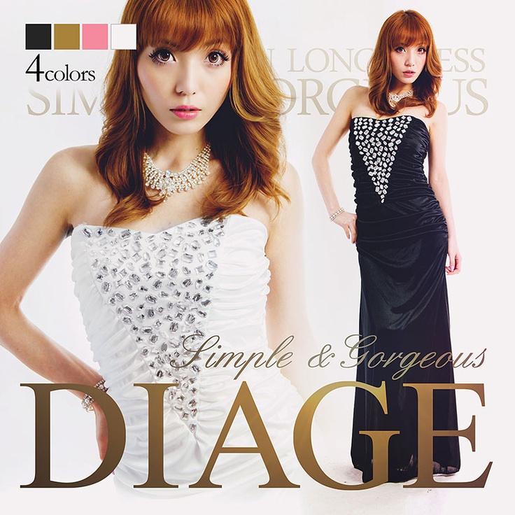 [全4色]まるでダイヤの輝きシンプル×ゴージャスなストレッチサテンロングドレス