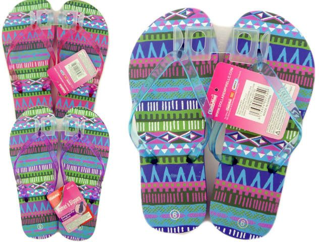 Wholesale Flip Flops, Bulk Lot of 72 Pairs in Assorted Colors, Style 44219F, Ladies, Women, Trendy