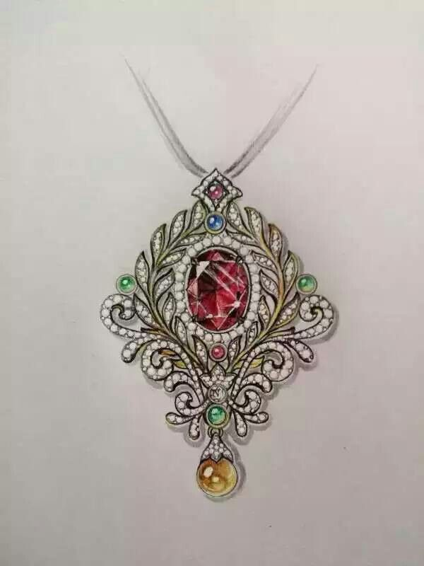 Jewelry Design Line Art : Best images about jewellery rendering on pinterest