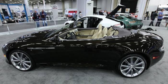 2012 Aston Martin Virage convertible at the D-FW Auto Show at the Dallas Convention Center.