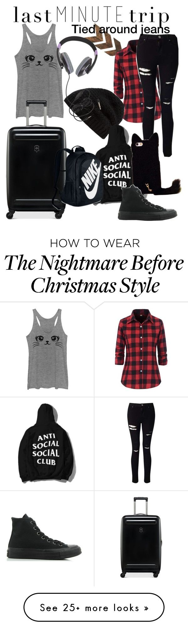 """""""LAST MINUTE TRIP"""" by adelle-louise-istead on Polyvore featuring Miss Selfridge, Victorinox Swiss Army, Rick Owens, NIKE, Converse and Burton"""