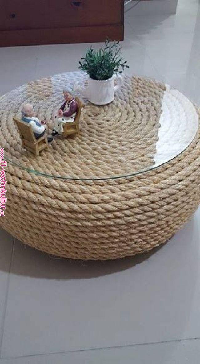 Home Decoration Tische mit Autoreifen | Autoreifenbau mit … #autoreifen #auto… – DIY Home