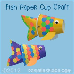 Fish Paper Cup Craft from www.daniellesplace.com  ©2012