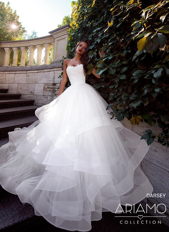 Featured Wedding Dress: Ariamo Bridal; Wedding dress idea.