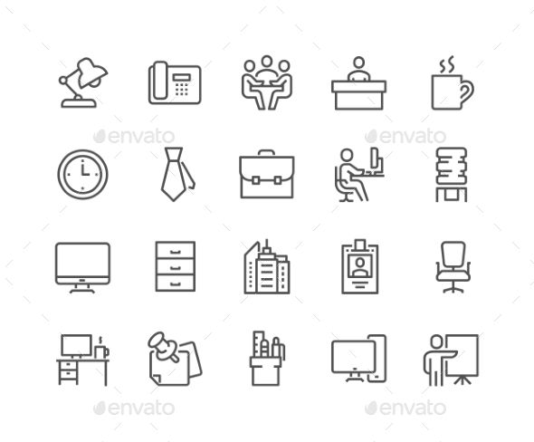 Line Office Icons. Download here: http://graphicriver.net/item/line-office-icons/16582933?ref=ksioks