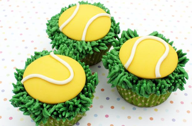 Get in the Wimbledon spirit with these impressive tennis ball cupcakes. These delicious treats, with a simple tennis ball and grass design, will be a hit with the kids