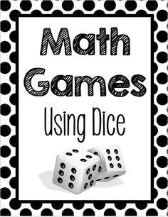 FREE, fun list of math games for 3rd - 5th grades using dice to practice place value, fractions, and measurement and data.