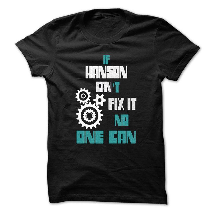 awesome HANSON Mechanic - 999 Cool Name Shirt !