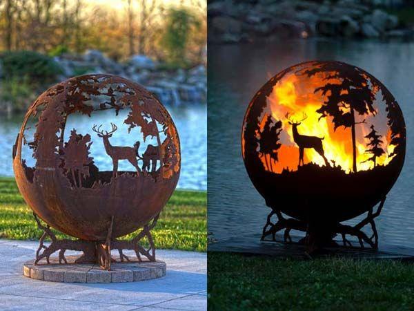 "Whether lit or unlit, the ""Up North"" firepit always is a beautiful addition to your backyard."