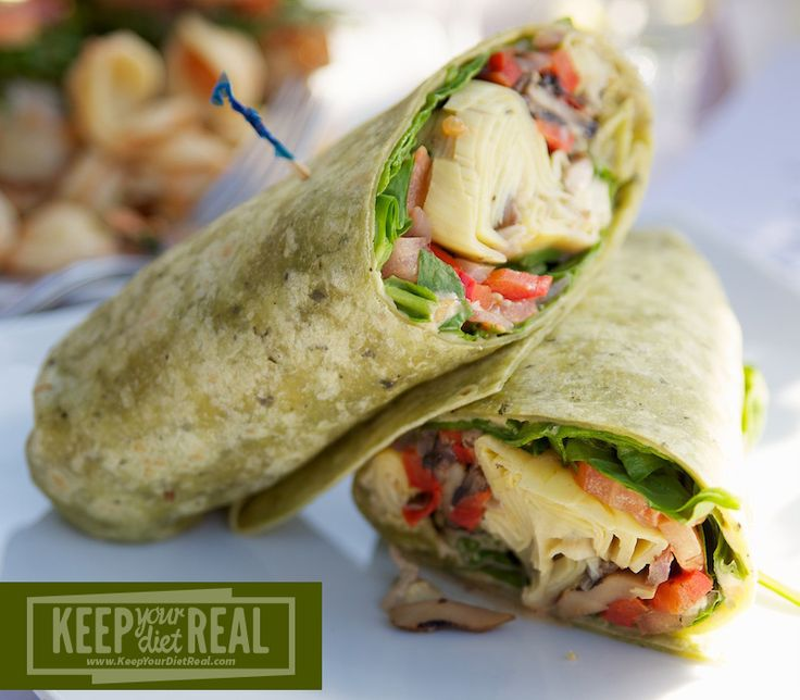 Hummus Veggie Wrap  DD: Be sure your tortilla is GF...if it matters to you.