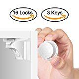 Child Safety Magnetic Cabinet Locks(16 Locks  3 Keys) Baby Proof No Tools Or Screws Needed  TimberRain