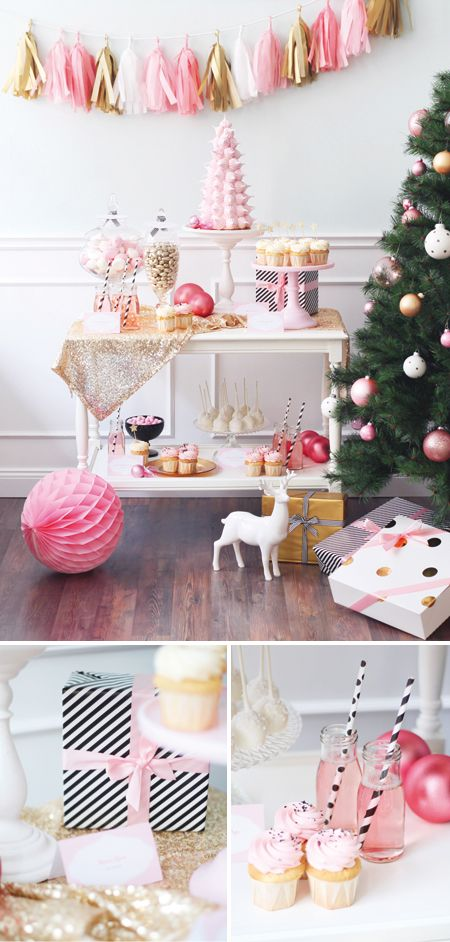 Love and pink and white Christmas! #pinyourlove #picmonkey