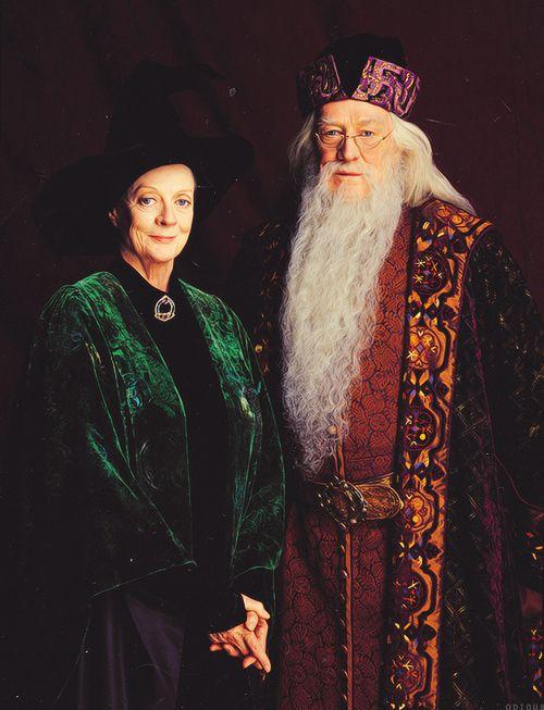 Le Professeur McGonagall Minerva & Le Professeur Dumbledore Albus ( Harry Potter à l'école des sorciers)
