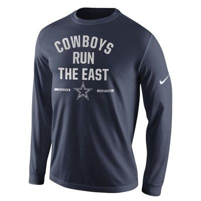Men's Dallas Cowboys Nike Dallas Cowboys 2014 NFC East Division Champions Long Sleeve T-Shirt