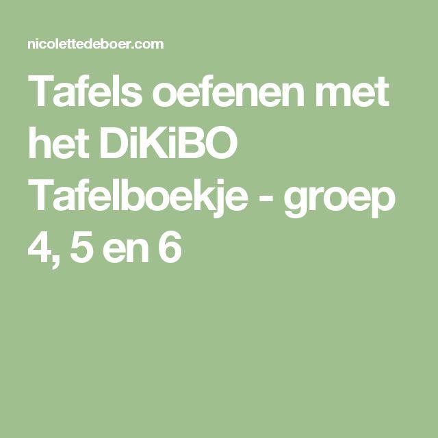 Tafels oefenen met het DiKiBO Tafelboekje - groep 4, 5 en 6