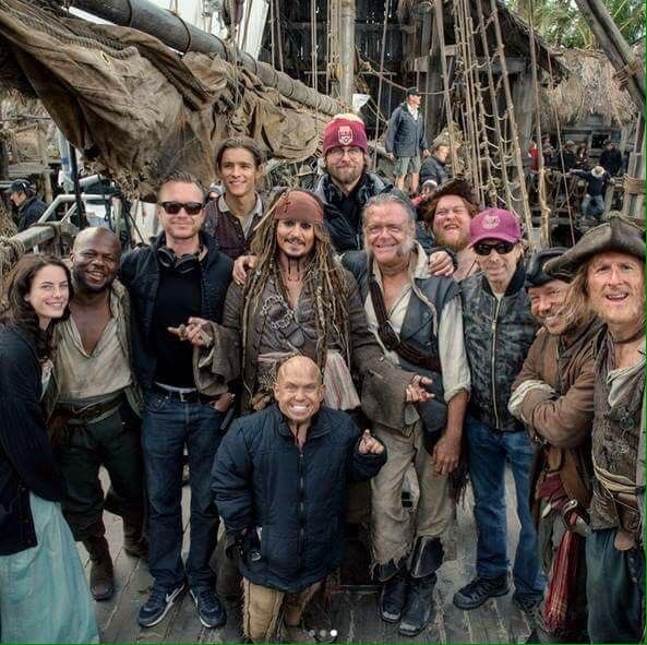 Pirates of the Caribbean: Dead Men Tell No Tales, cast and crew shot