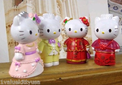 Hello Kitty and Daniel Western and Chinese Wedding Cake Toppers US Seller   eBay
