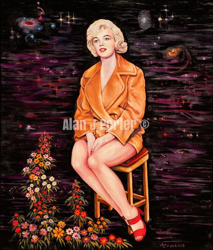 #love #alanjporterart #kompas #art #marilyn #monroe #normajean #painting #flowers #chair