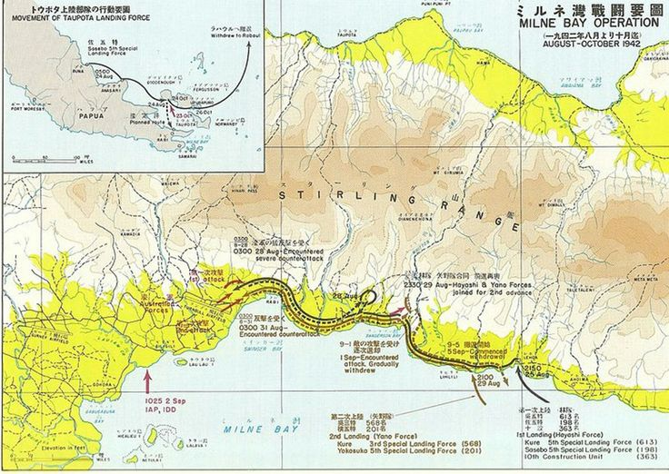 Area of the Battle of Milne Bay