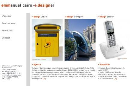 Emmanuel Cairo, le 1er designer avec un site tactile (design transport, produit & urbain)