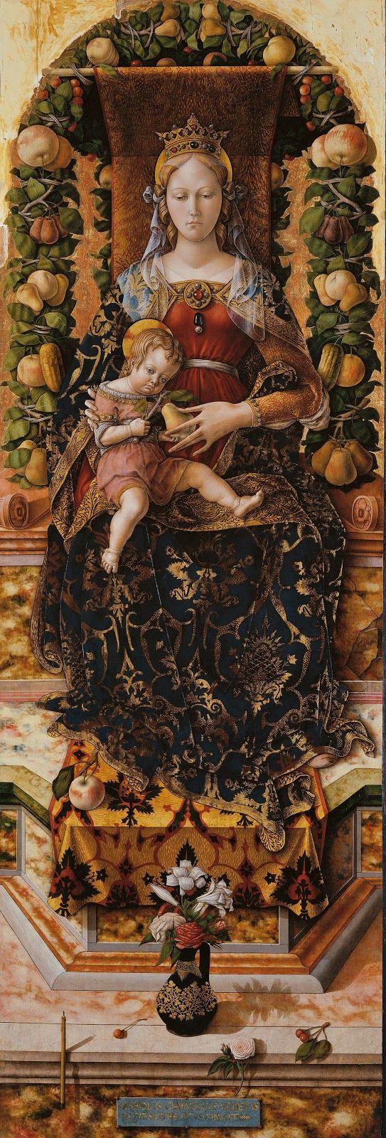 Carlo Crivelli, Madonna of the candle, ca 1490, Pinacoteca di Brera, Milano, Italia.