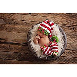 Christmas Baby Newborn Handmade Santa Outfit - Baby Photograph Props for the cutest holiday snaps!