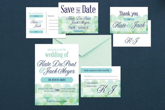 Aquarell Luxus Hochzeit einladen, Kit, Wave Hochzeit Einladung Hochzeit Einladung Luxussuite-Kit Beachy Hochzeit Kit