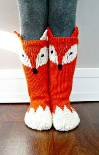Knitting pattern for Little Fox Socks