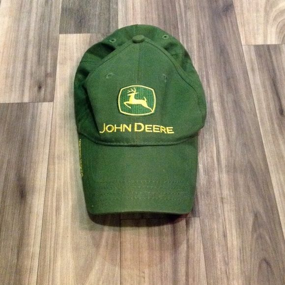 John Deere Owner's Edition Hat This is a John Deere Owner's Edition ball cap. You cannot purchase this in store and must purchase a JD in order to have one. It has some make up in the inside from being worn but it's in great condition and super cute! John Deere Accessories Hats