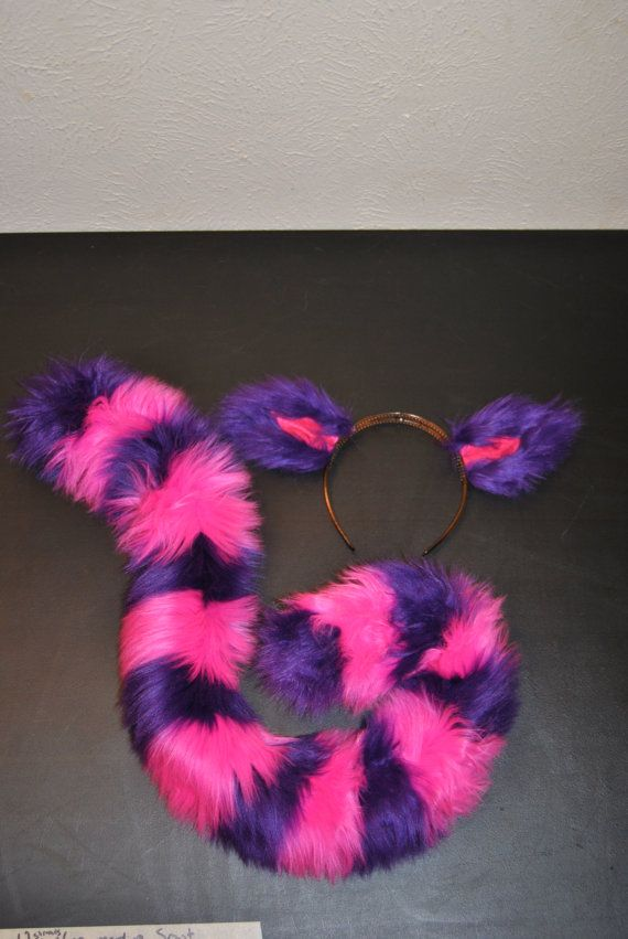 Cheshire Cat Ears and Tail by GraysonCreations on Etsy