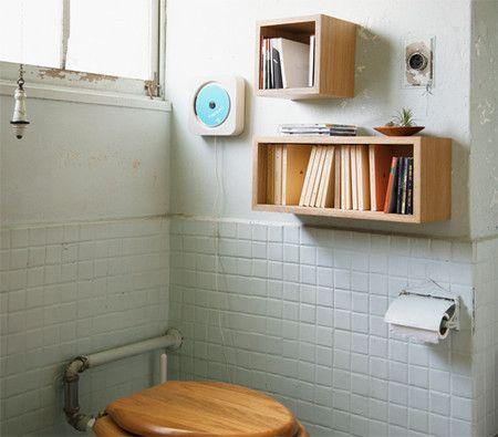 MUJI : お気に入りを並べて トイレを書斎に