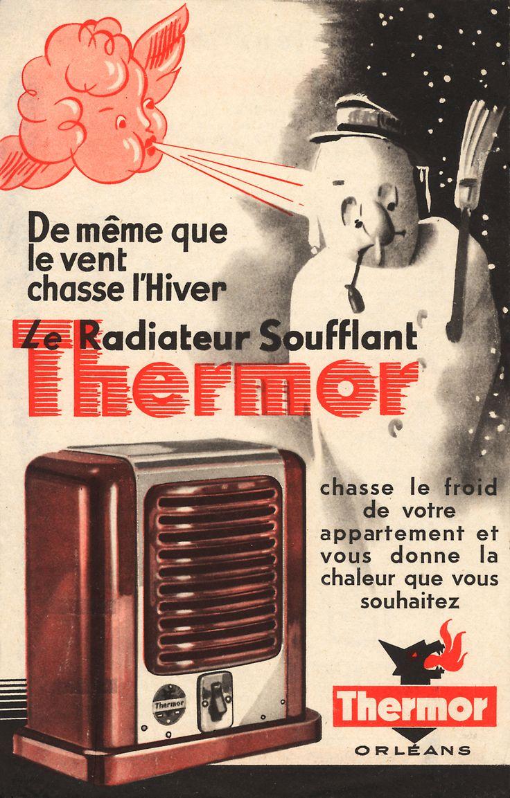 les 14 meilleures images du tableau histoire de thermor sur ... - Radiateur Soufflant Salle De Bain Thermor