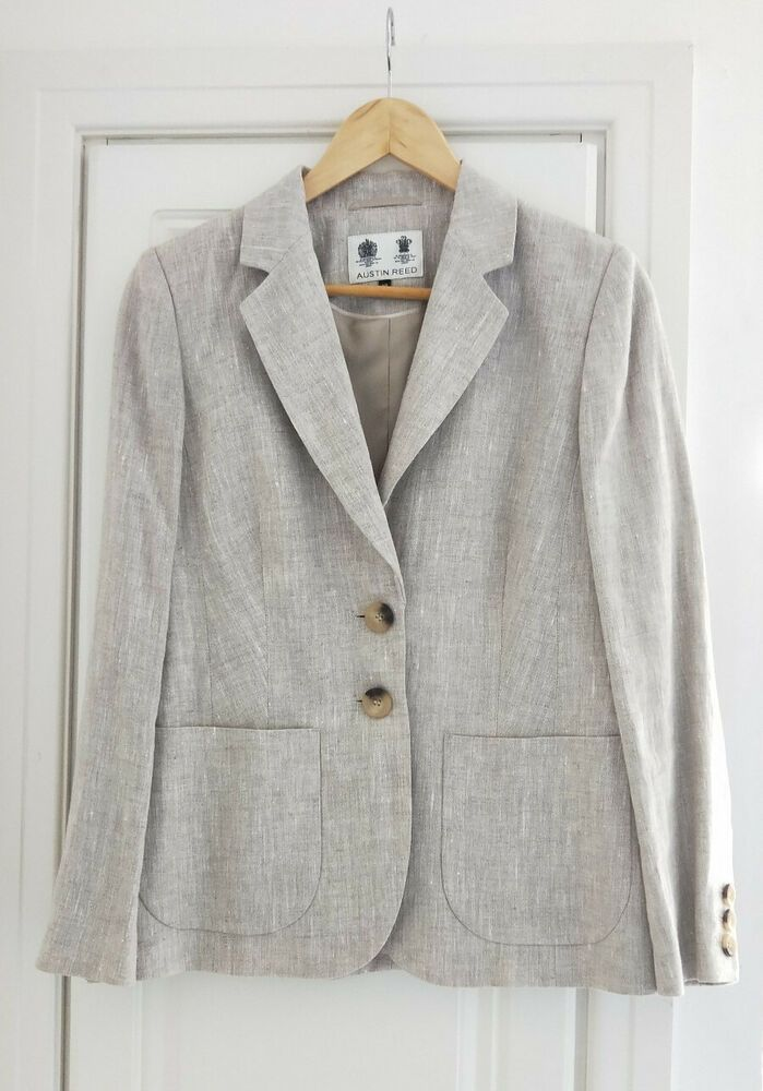 Austin Reed Ladies 100 Linen Suit Jacket Beige Size 10 Fashion Clothing Shoes Accessories Womensclothing Suitss Ivory Suit Austin Reed Dress Linen Suit