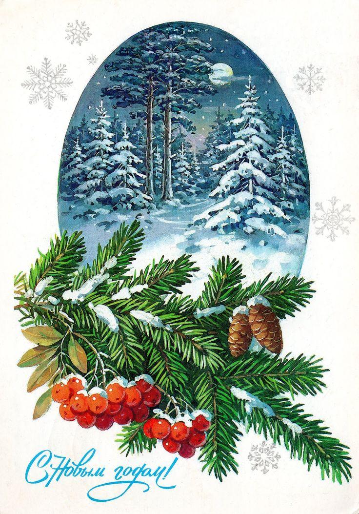 Советские открытки природа
