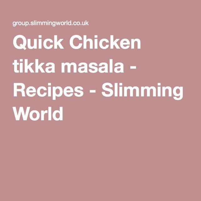 Quick Chicken tikka masala - Recipes - Slimming World