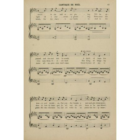 Cantique de No��?l 2 Adolphe Adam Christmas Carols & Hymns 1910 Canvas Art - (24 x 36)