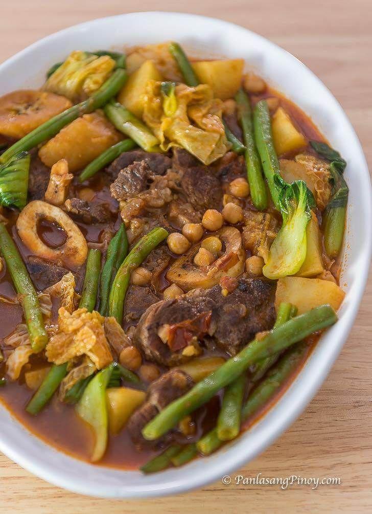 Puchero Bulalo Recipe Beef Shank Pochero Panlasang Pinoy Recipe Pochero Recipe Beef Beef Shank Recipe Pork Soup Recipes
