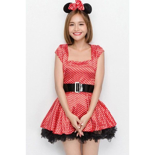 Red Sexy Minnie Mouse Fancy Dress Halloween Costume ($30) ❤ liked on Polyvore featuring costumes, red, mouse halloween costume, red halloween costumes, sexy halloween costumes, fancy halloween costumes and sexy mouse costume