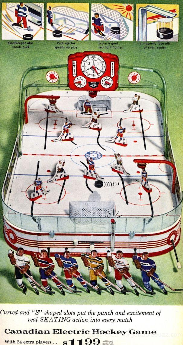1963 Munro Table Hockey Game. Sears Wish Book