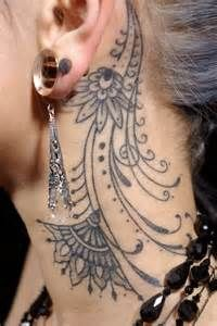 Ideas about Girl Neck Tattoos on Pinterest | Neck tattoos Best neck ...