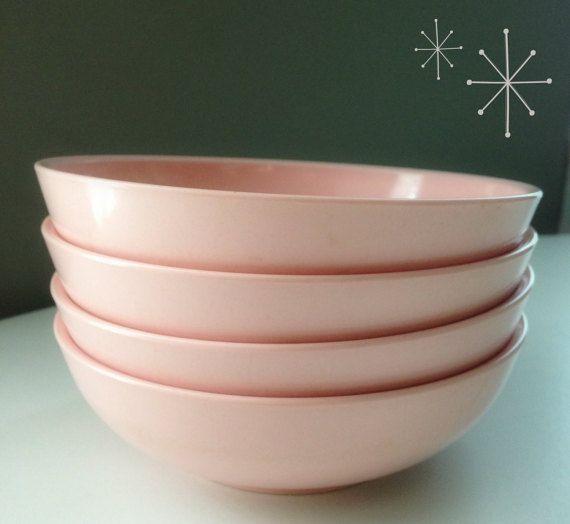 Melmac Dishes Bowls Ovation Bubblegum Pink Melamine Plastic Bowl Dishe Dish Magic