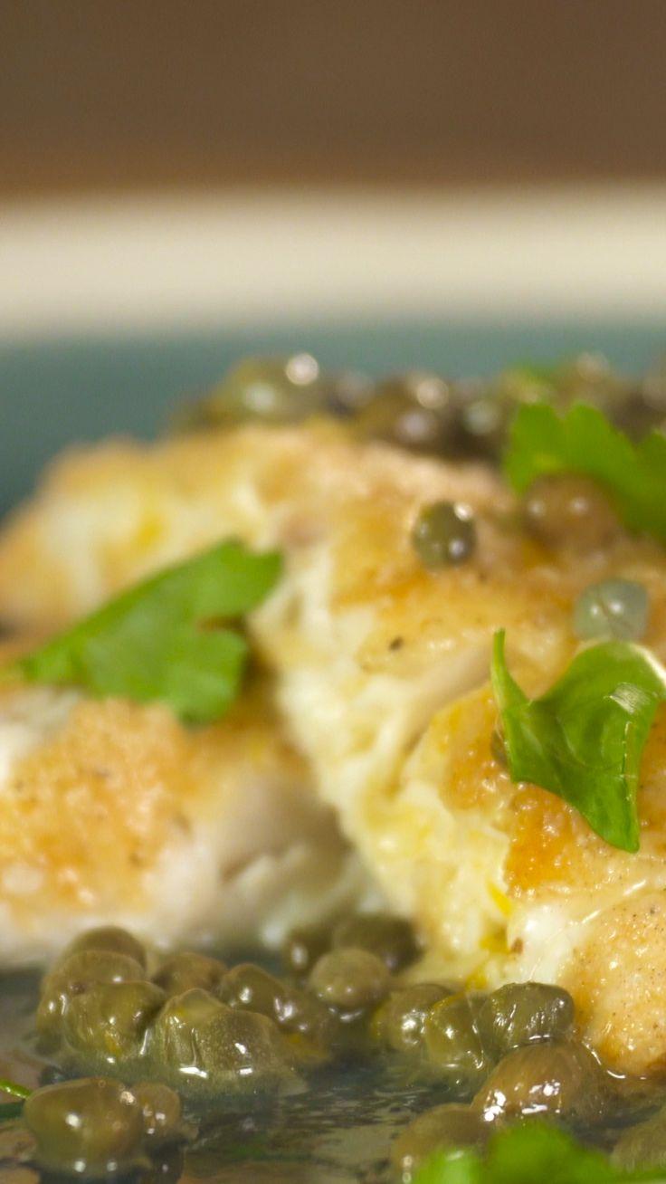 Pan Fried Fish In Lemon Caper Sauce