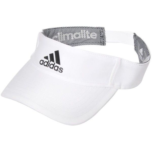 ADIDAS PERFORMANCE Logo Techno Visor ($10) ❤ liked on Polyvore featuring accessories, hats, white, visor hats, adidas, sun visor, adidas hats and sun visor hat
